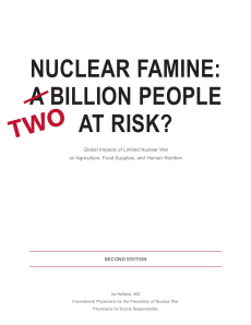 Two billion at risk from nuclear famine in South Asia: IPPNW's new report