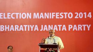 Modi unveiling BJP Manifesto